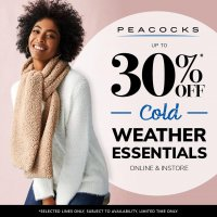 Up to 30% off cold weather essentials